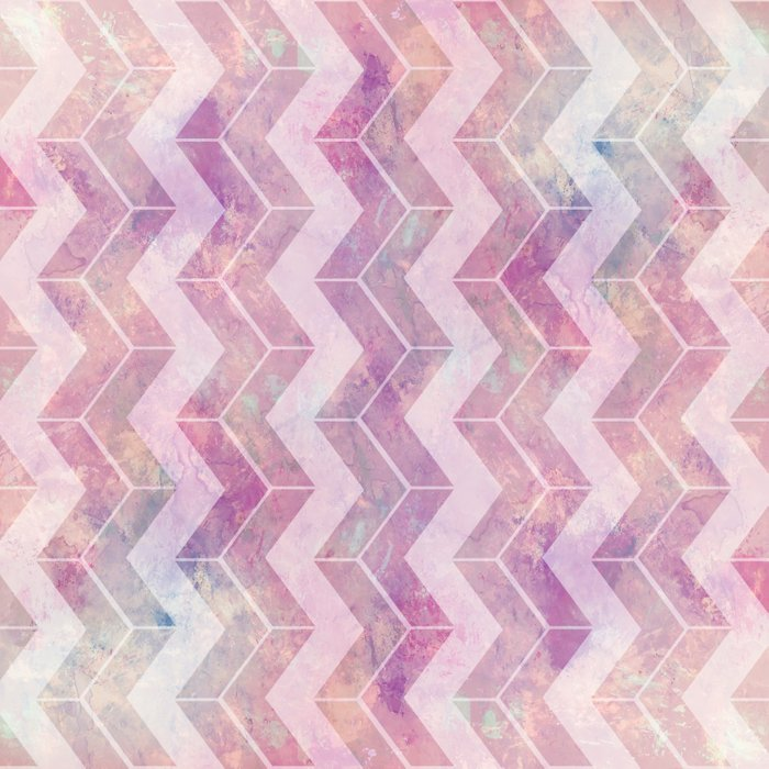 Watercolor Pink Pattern Chevron Duvet Cover By Vanessagf