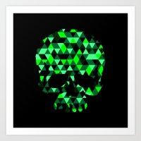 Triangle Camouflage Skul… Art Print