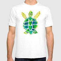 Turtle Love Mens Fitted Tee White SMALL