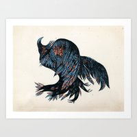 falling bird Art Print