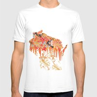Sconny Splash Mens Fitted Tee White SMALL