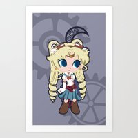 Steampunk Sailor Moon Art Print