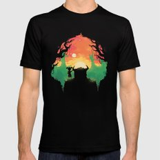 Sunset with a friend Mens Fitted Tee Black SMALL