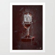 DARK MICROPHONE Art Print