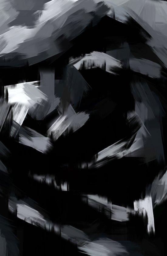 BLOSSOMS - BLACK Art Print