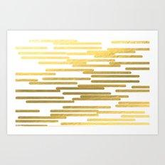 Gold Bars - Trendy Hipst… Art Print