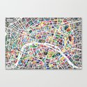 A map of Paris Canvas Print
