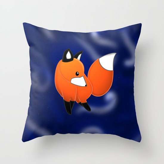 Introducing a fox Throw Pillow