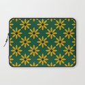 Yellow Flowers on Green Field Laptop Sleeve