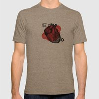 Listen to your heart Mens Fitted Tee Tri-Coffee SMALL
