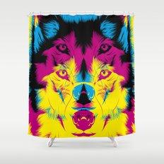 Wolf CMYK Shower Curtain