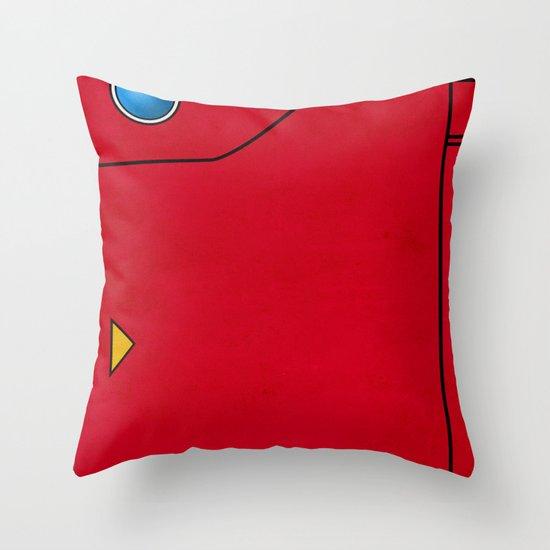 Dexter the Pokedex - Minimalism Pokemon Poster Throw Pillow