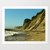 Bowling Ball Beach II Art Print