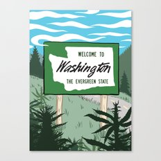 Welcome to Washington Canvas Print
