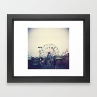 Coney Island II Framed Art Print