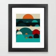 Framed Art Print featuring Sundays by Bri.buckley