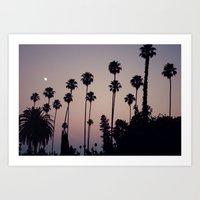 Hollywood Forever Cemetery Sunset  Art Print