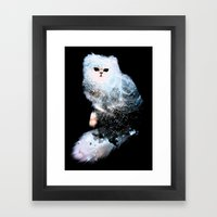Celestial Cats - The Persian and the Ashes of the First Stars Framed Art Print