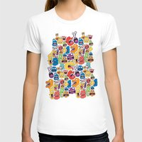 monster T-shirts featuring Monster Faces Pattern by Chris Piascik