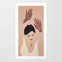 Kim Dancing Art Print