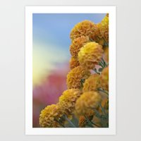 Autumn Botanical -- Gold… Art Print