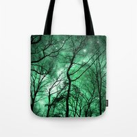 The Trees Reach Out at Night Tote Bag