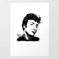 Teddy Boy JL Art Print