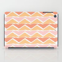 triangle sunset iPad Case