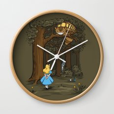 My Neighbor in Wonderland Wall Clock
