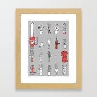 Give Me A Hand Framed Art Print