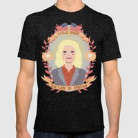 Leslie Knope Mens Fitted Tee Tri-Black SMALL