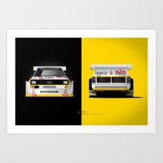 Group B Edition, N.º3, Audi Quattro S1 Art Print