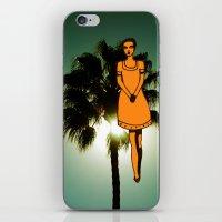 palm tree girl  iPhone & iPod Skin