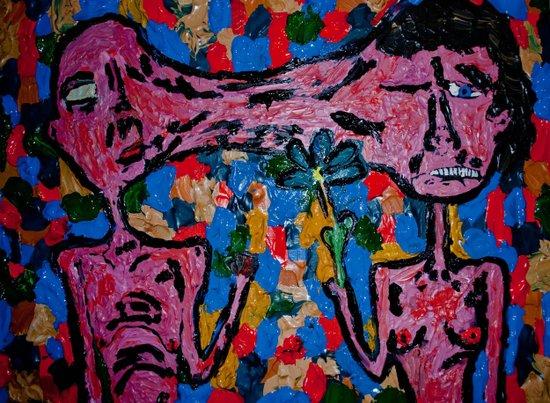 fist or flower Art Print