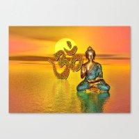 Indische Göttin Und Om … Canvas Print
