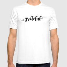 Grateful Mens Fitted Tee White SMALL