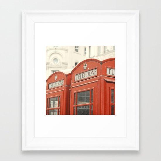 Telephone - London Photography Framed Art Print