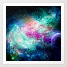 Teal Galaxy Art Print