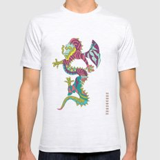 Dragon Mens Fitted Tee Ash Grey SMALL
