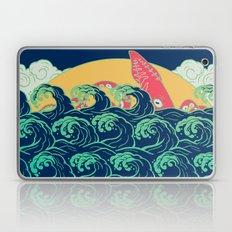 Squid on the waves Laptop & iPad Skin