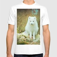 Snow Fox Mens Fitted Tee White SMALL