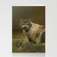 A Game of Cat and Mouse Stationery Cards