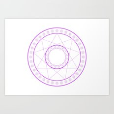 Anime Magic Circle 7 Art Print