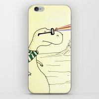 Hipster Laser Dinosaur iPhone & iPod Skin