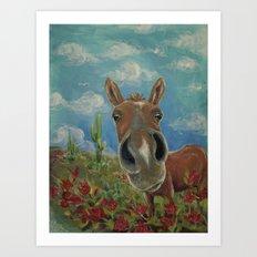 Desert Horse Art Print