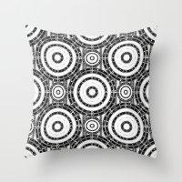 Geometric Black And Whit… Throw Pillow