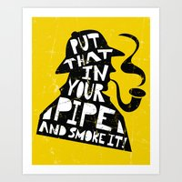 Smoke It! Art Print