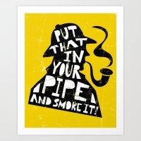 Smoke It! Art Print