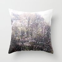 Snow In Early Fall(1)  Throw Pillow
