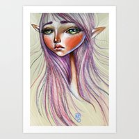 Elfling Study :: Powder Art Print